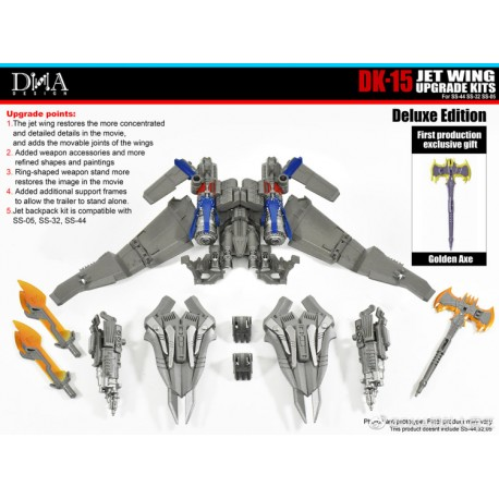 DNA Design DK-15 Jet Wing Upgrade Kits for Studio Series Optimus Prime (SS44/SS32/SS05)
