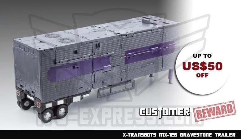 Customer Reward Program: X-Transbots MX-12B Gravestone Trailer & MX-12C Accessory Pack